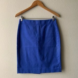 J Crew No. 2 Pencil Skirt Blue Purple 2